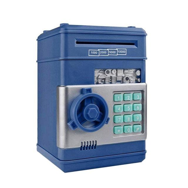 Piggy Bank Deposit Box - Cash & Coins Savings - geniesave