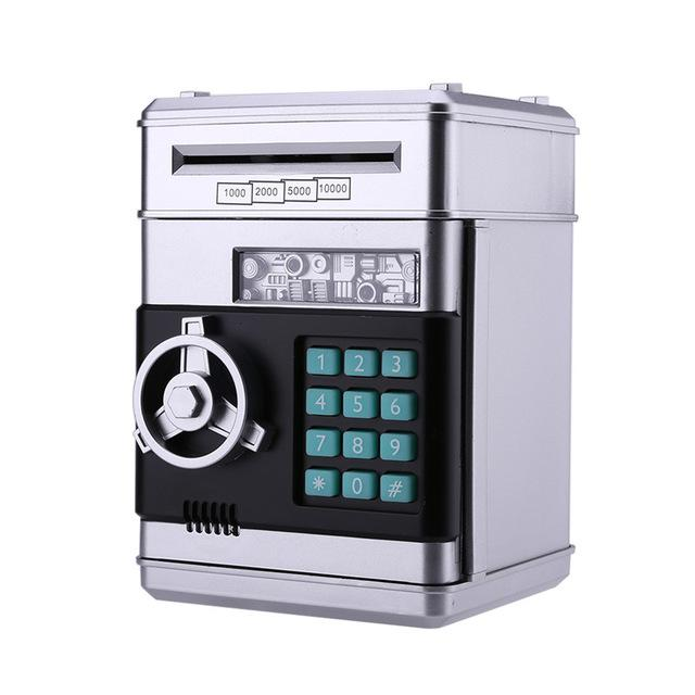 Automatic Piggy Bank ATM Password Money Box Cash Coins Saving Box ATM Bank Box Electronic Deposit Christmas Gift for Kids - geniesave