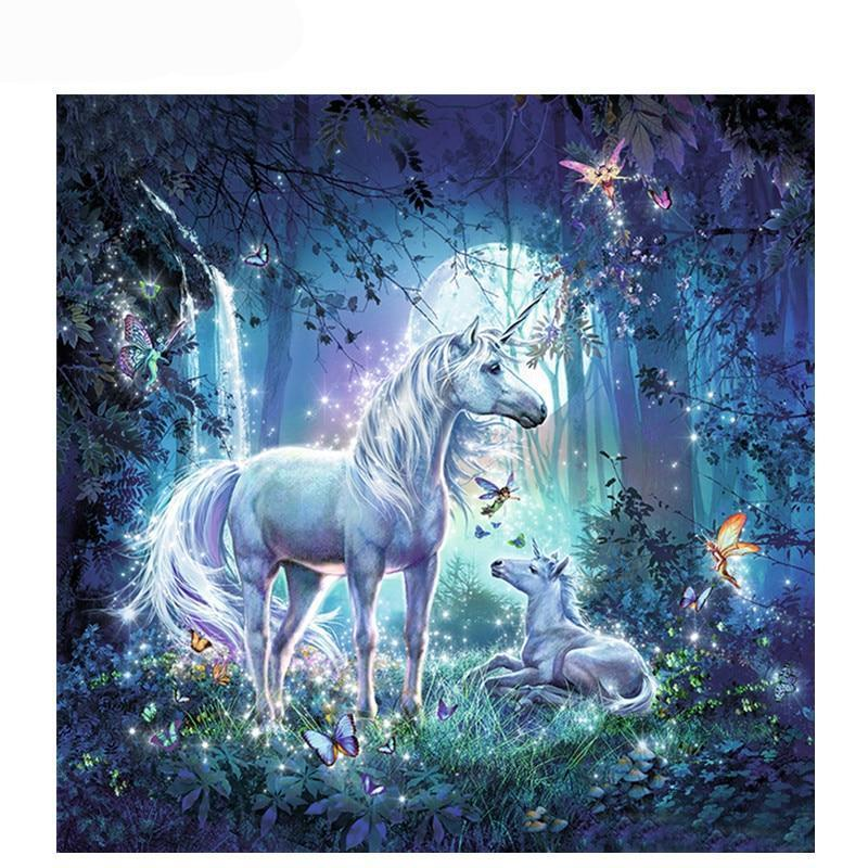 Unicorn With Baby Unicorn Easy-Artist Paint By Numbers Kit