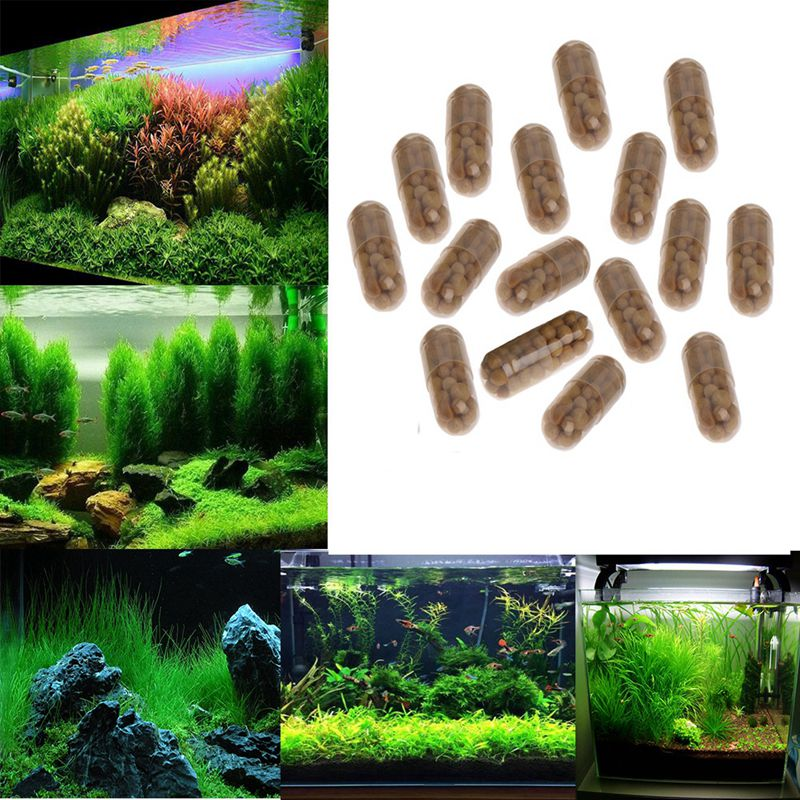 40 Pcs Aquarium Plant Grass Fertilizer Root Tab Capsules Water Grass Nutrition Fertilizer