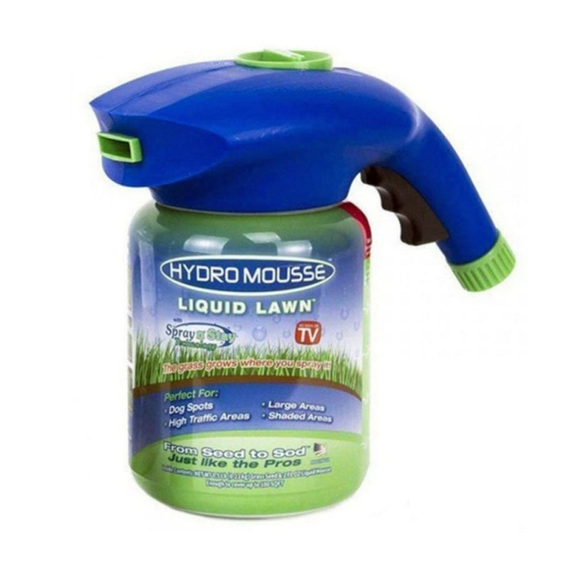 Hydro Mousse Liquid Lawn Bermuda Grass Seed Spray Stay System