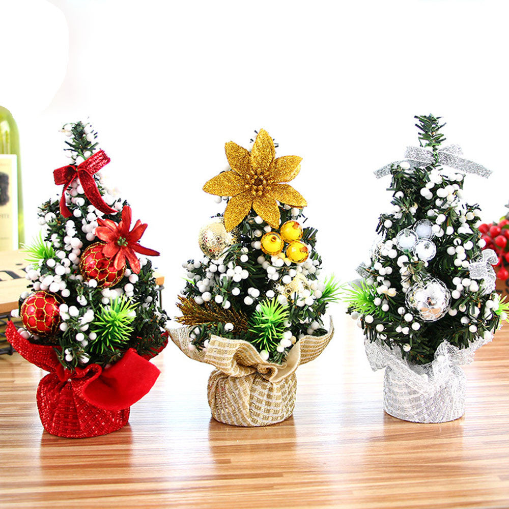 Merry Christmas Mini Artificial Trees Christmas Decorations For Home