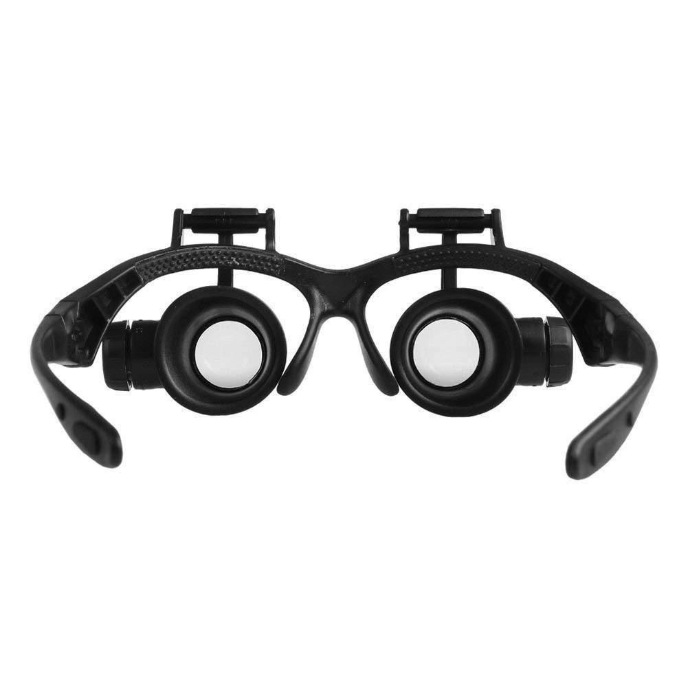 LED 20X Magnifier Watch Repair Glasses - geniesave