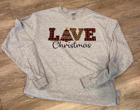 "Christmas Long Sleeve T-Shirts ""Love"""