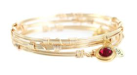 Bourbon and Boweties Birthstone Bangle Stacker GOLD