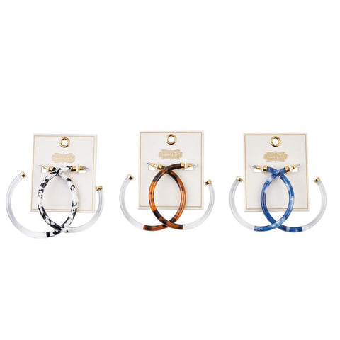Mudpie Resin Hoop Earrings