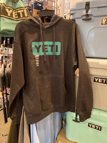 Yeti- Logo Hoodie Pullover- Charcoal