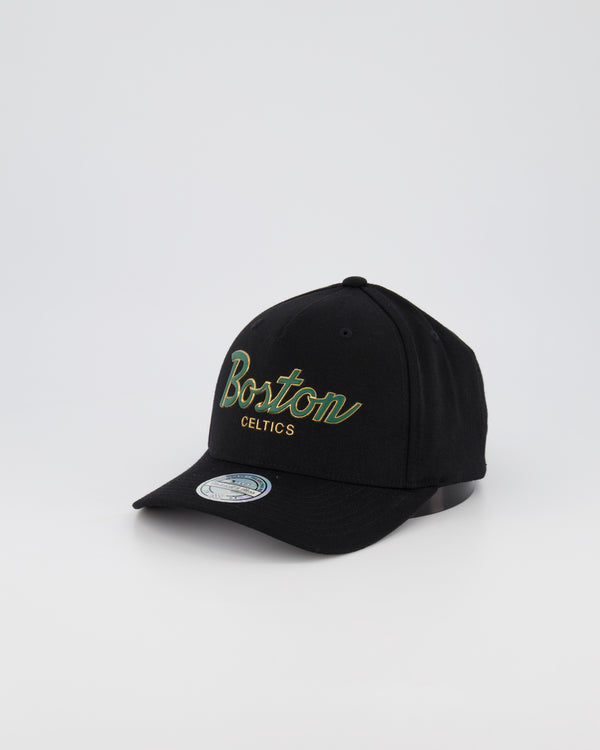 BOSTON CELTICS NBA PINCH 110 SNAPBACK - 3D SILICONE GOLD TEAM SCRIPT