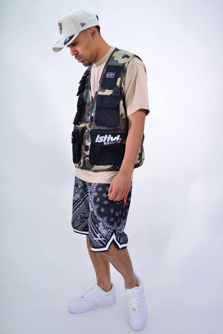TACTICAL VEST - CAMO/BLACK