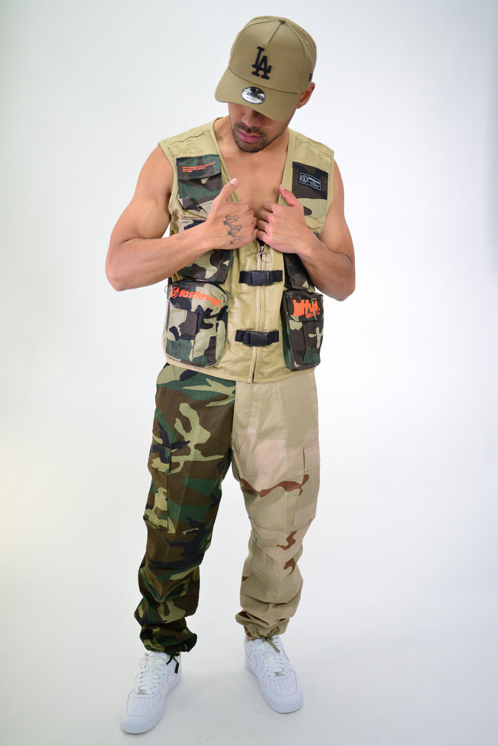 TACTICAL VEST - TAN/CAMO