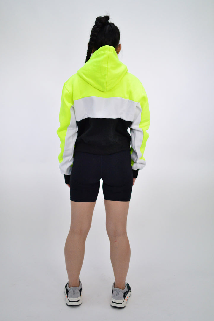 WOMENS NEON CAPSULE 2.0 CROPPED HOODY - NEON/WHITE/BLACK