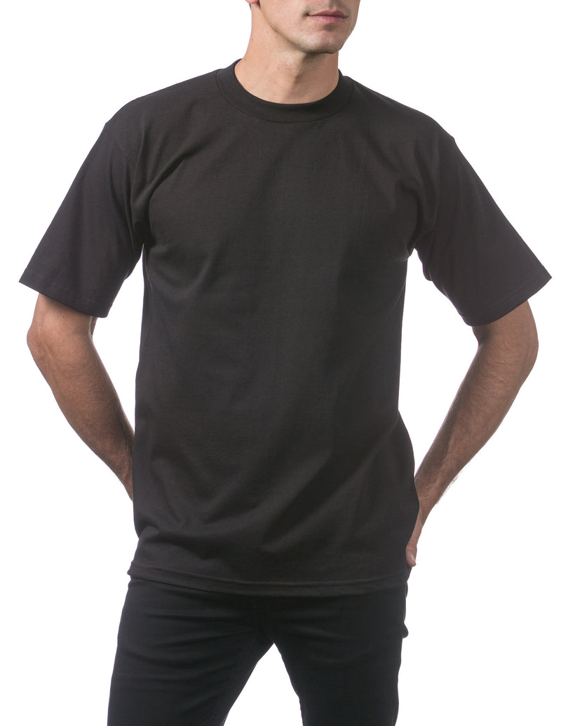 Proclub Heavyweight Short Sleeve Tall Tee - BLACK