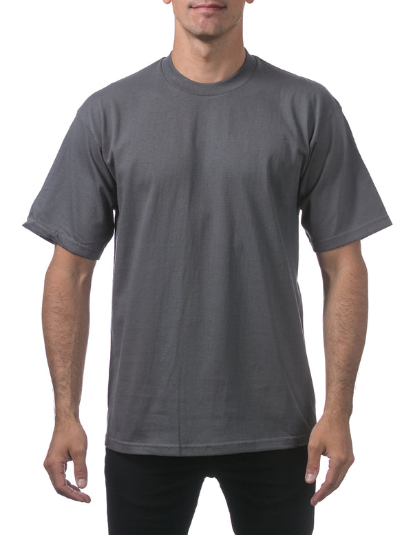 Proclub Men's Heavyweight Short Sleeve Tee - Regular - GRAPHITE