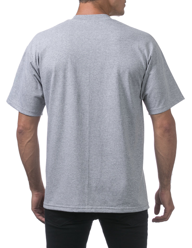 Proclub Heavyweight Short Sleeve Tall Tee - HEATHER GREY