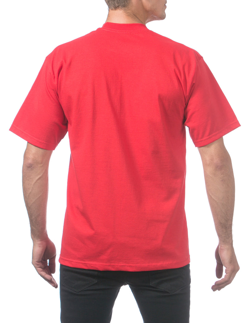 Proclub Heavyweight Short Sleeve Tall Tee - RED