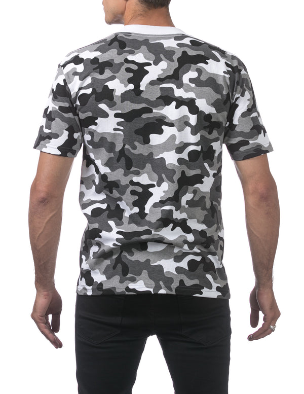 Proclub Men's Comfort Short Sleeve Tee - Regular - CITY CAMO