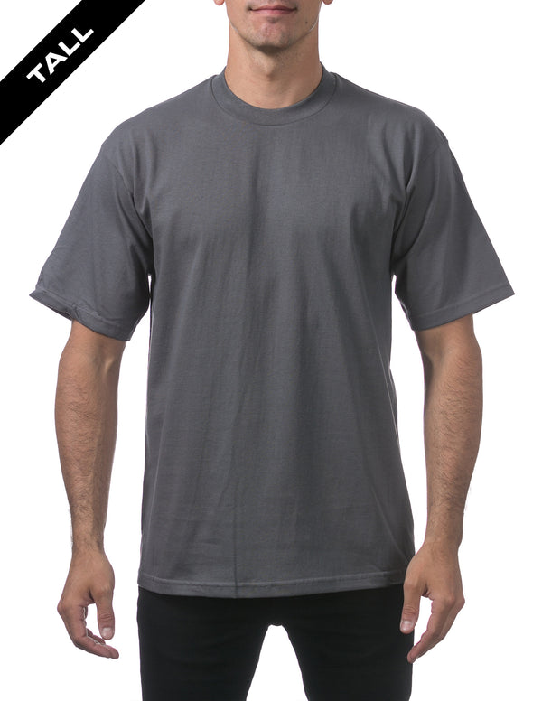Proclub Heavyweight Short Sleeve TALL Tee - CHARCOAL