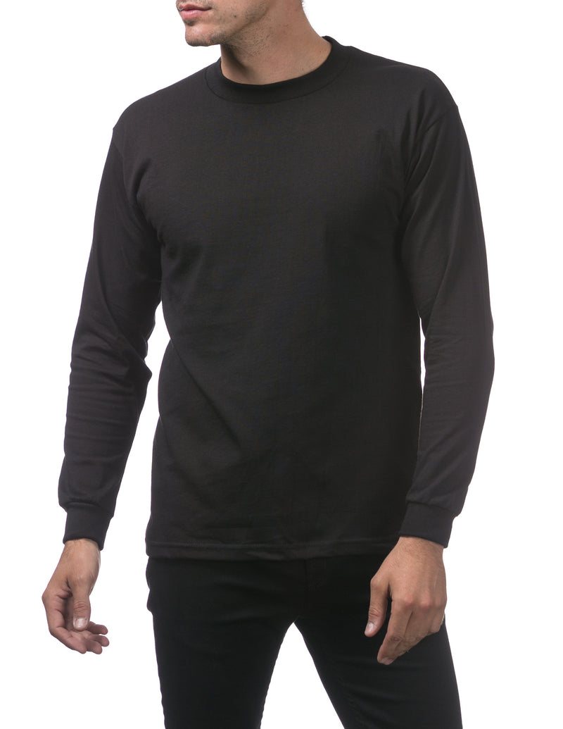 Proclub Heavyweight Long Sleeve TALL - BLACK