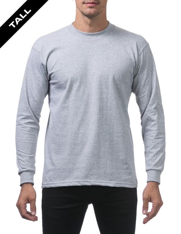 Proclub Heavyweight Long Sleeve TALL - HEATHER GREY