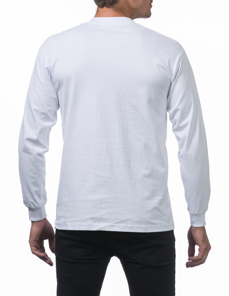 Proclub Heavyweight Long Sleeve TALL - WHITE