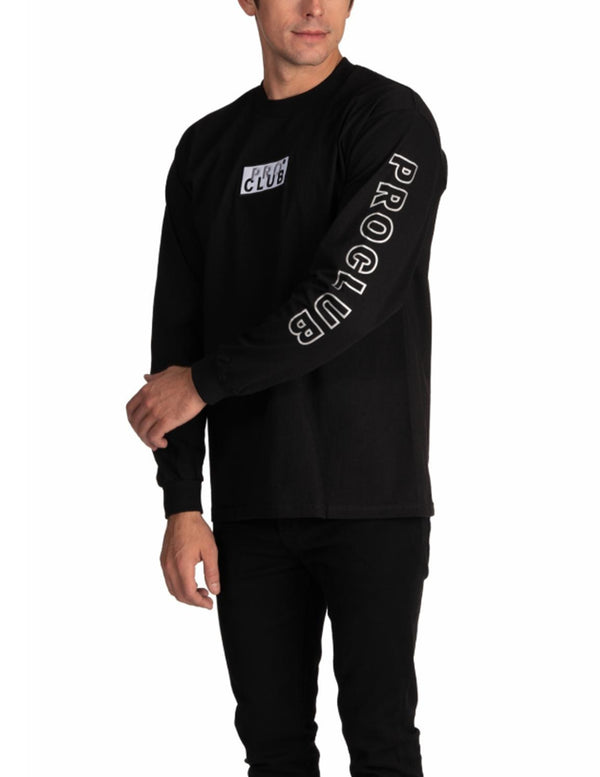Proclub Heavyweight Box Logo Heavyweight Long Sleeve Tee