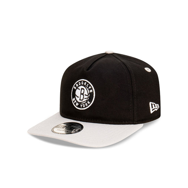 Brooklyn Nets Two Tone THE GOLFER SNAPBACK - Black/Grey
