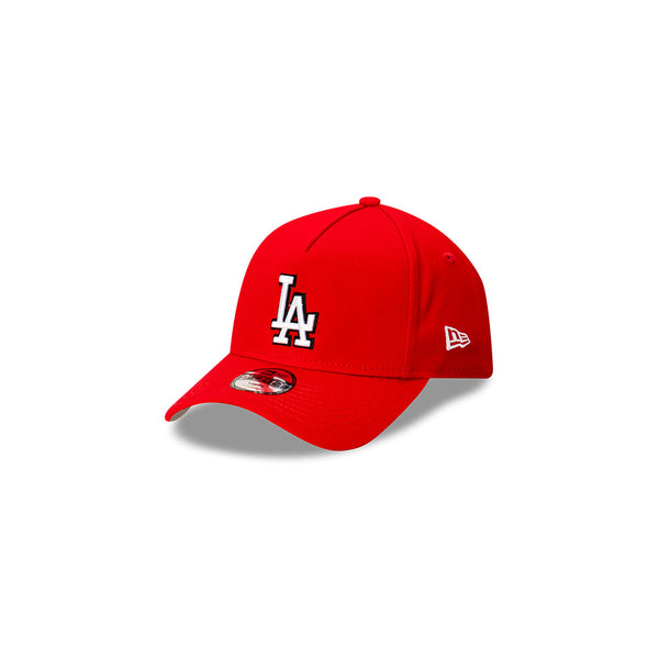YOUTH LA Dodgers 9FORTY A-FRAME - Scarlet/Black/White logo