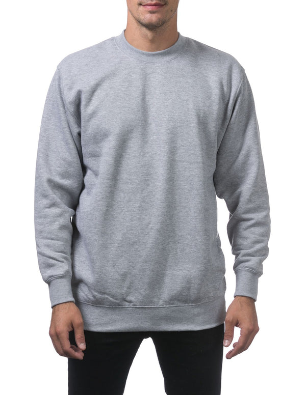 Proclub Heavyweight Crew Neck Fleece Pullover Sweater