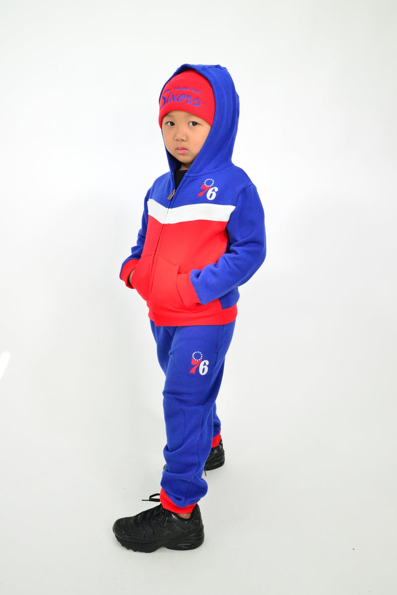 KIDS NBA PHILADELPHIA 76ERS REFRESH HOODY AND PANT SET
