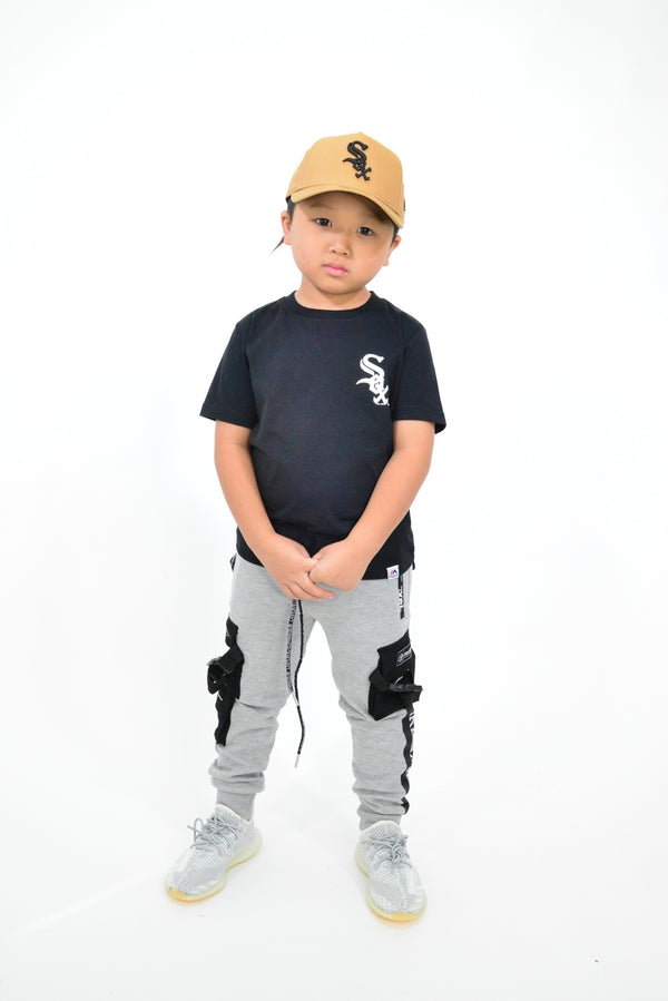 KIDS MAJESTIC MADISON TEE - CHICAGO WHITE SOX-BLACK/WHITE