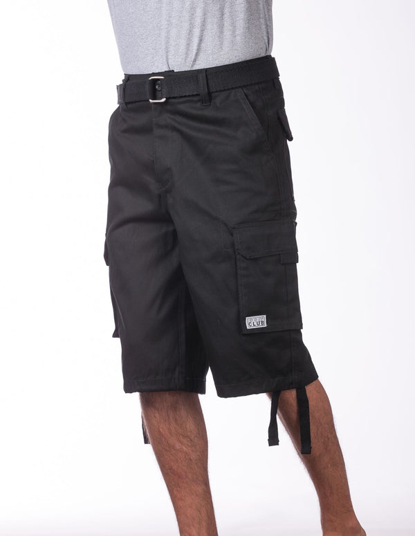Proclub Twill Cargo Shorts with Belt