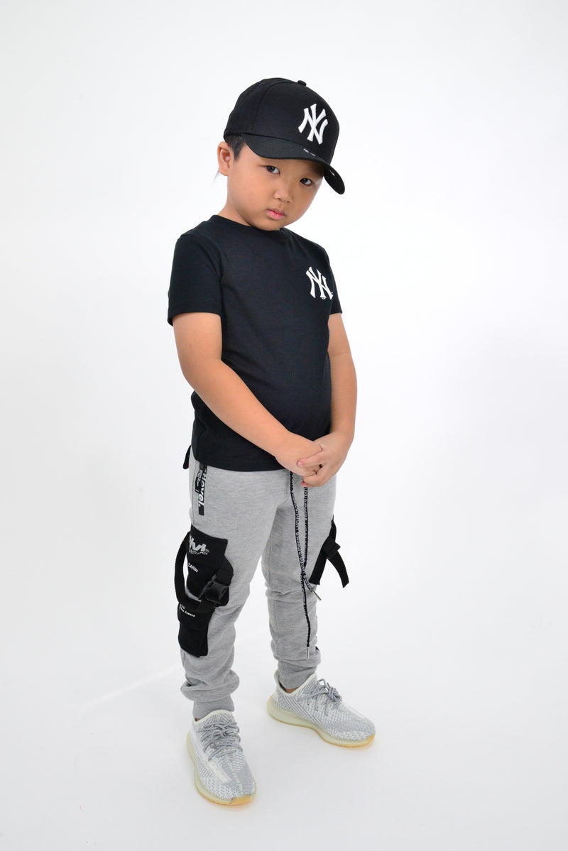 KIDS MAJESTIC JEANER TEE - NY YANKEES-BLACK/WHITE