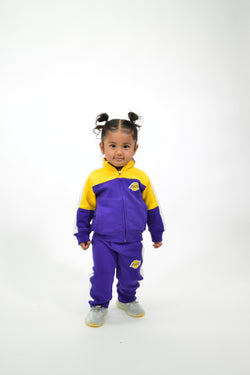 KIDS NBA LA LAKERS REBOUND TRACK JACKET AND PANT SET