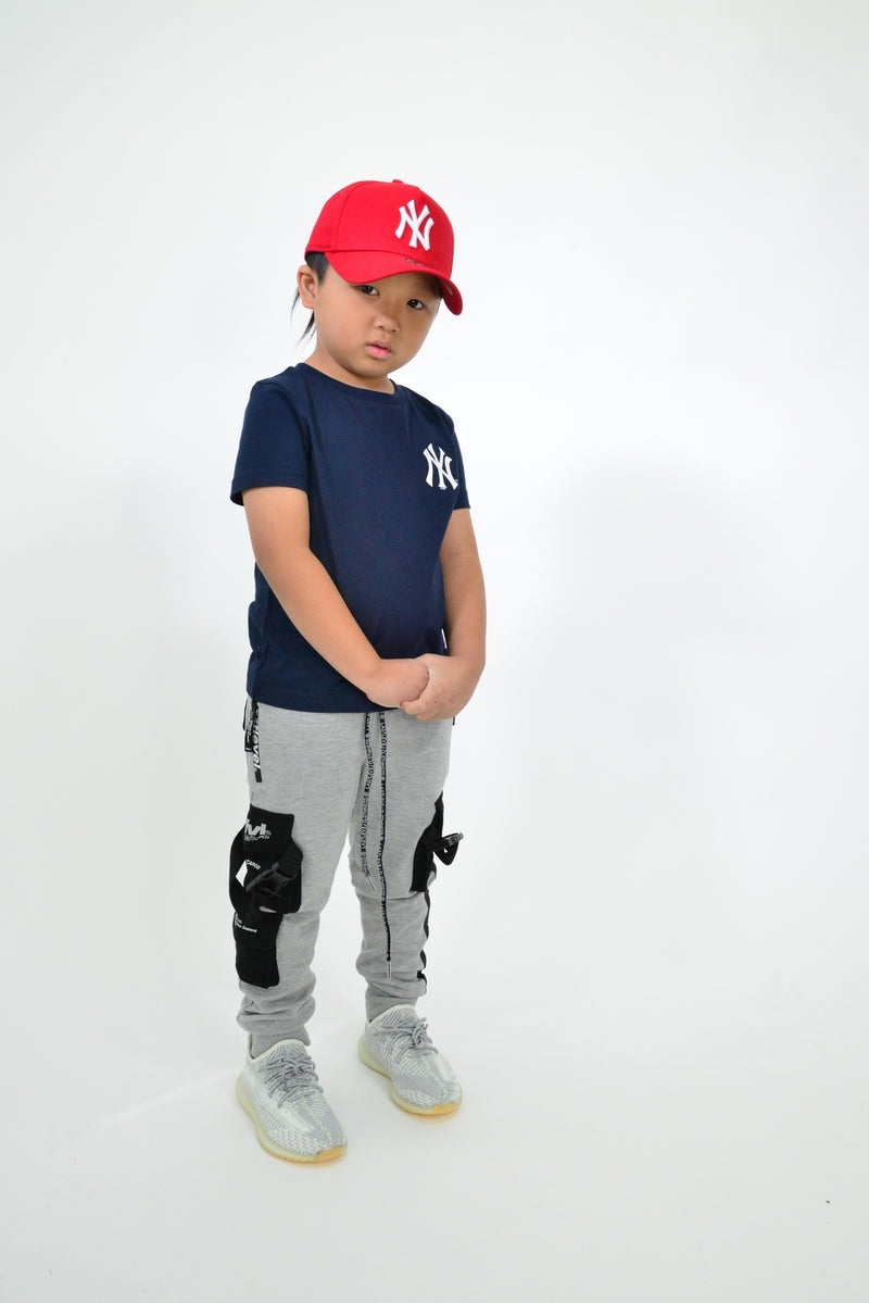 KIDS MAJESTIC JEANER TEE - NY YANKEES-NAVY/WHITE