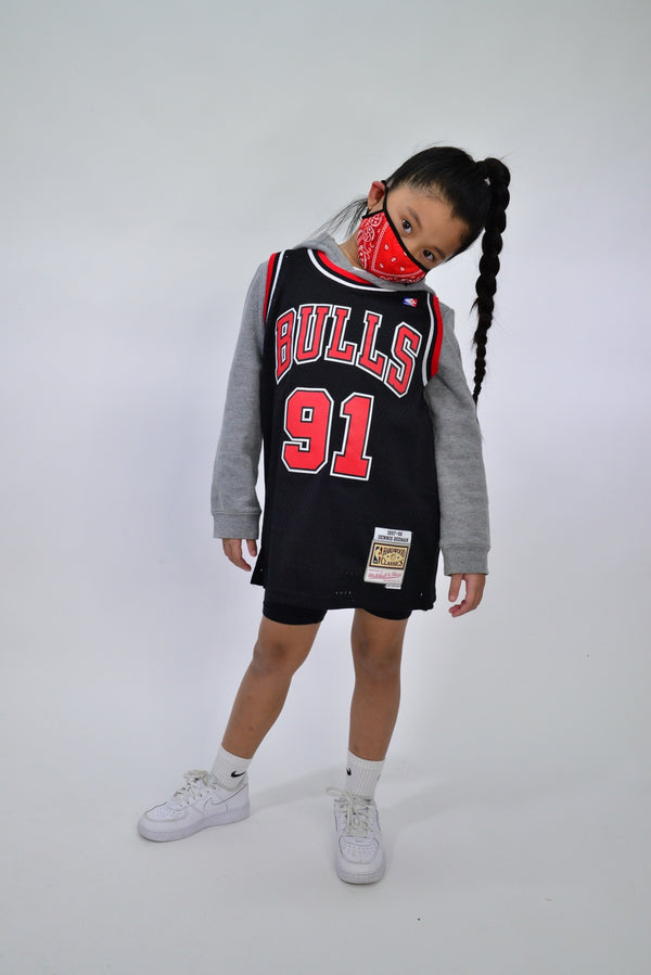 YOUTH SWINGMAN JERSEY CHICAGO BULLS RODMAN - BLACK