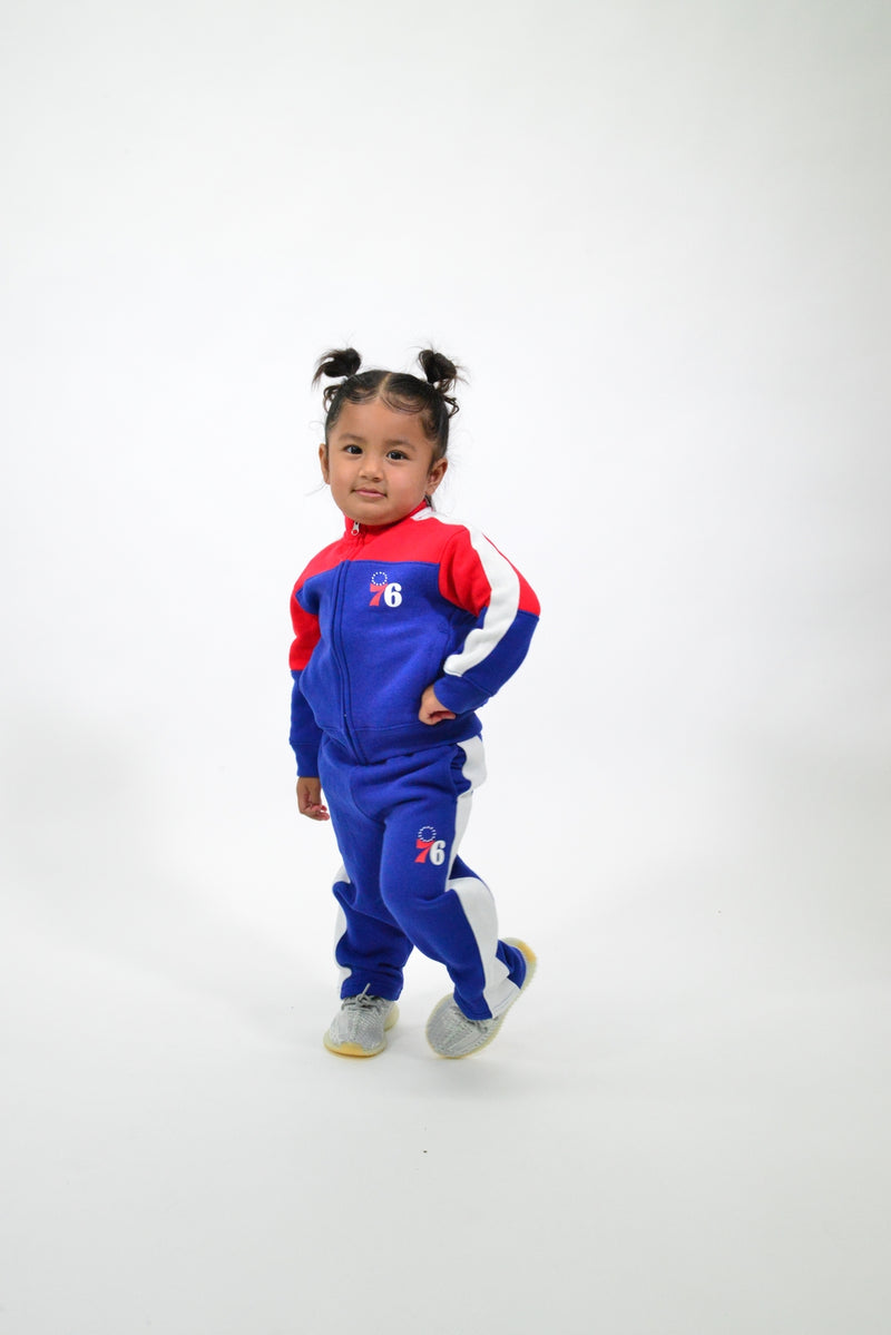 KIDS NBA PHILADELPHIA 76ERS REBOUND TRACK JACKET AND PANT SET