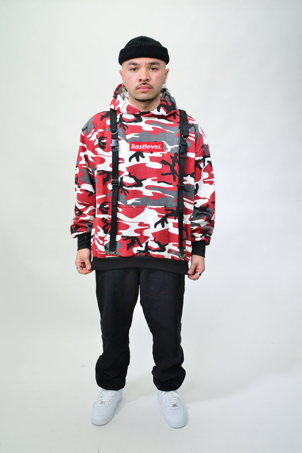 ROTHCO TACTICAL STRAP HOODIE - MAROON CAMO