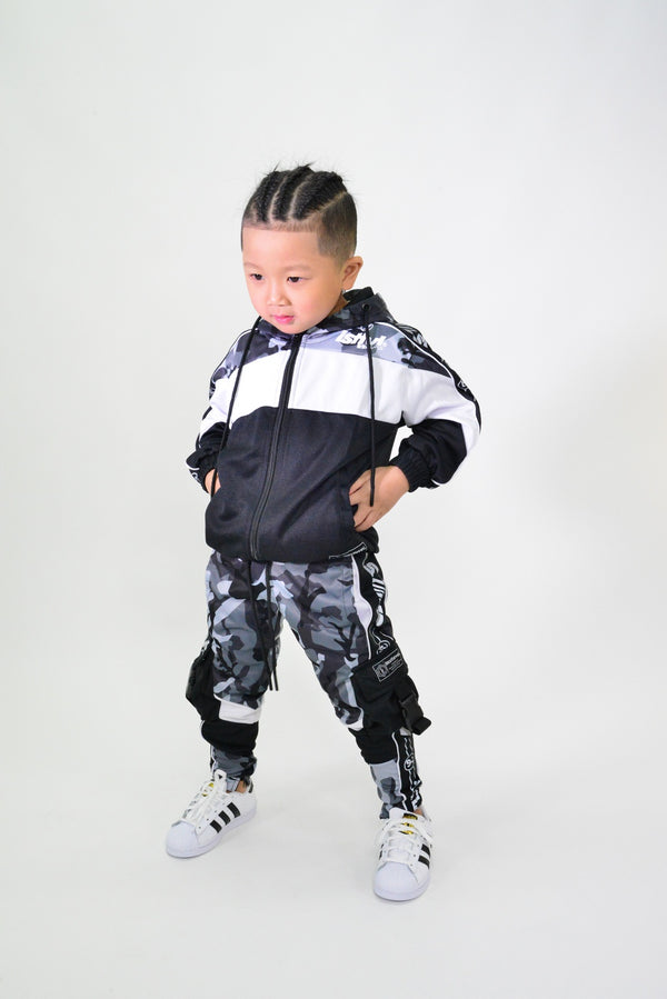KIDS URBAN CAMO TRACK JACKET