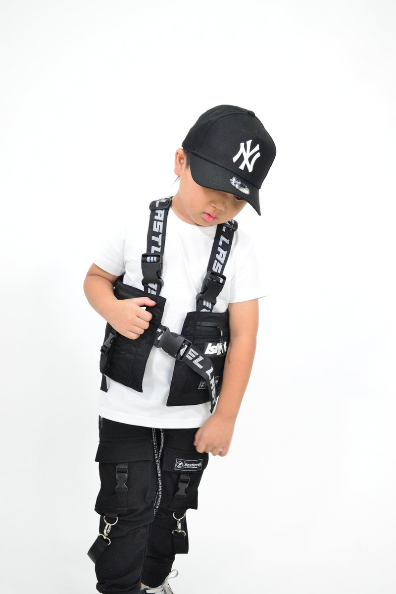LASTLEVEL KIDS EDITION OFFSET VEST - BLACK