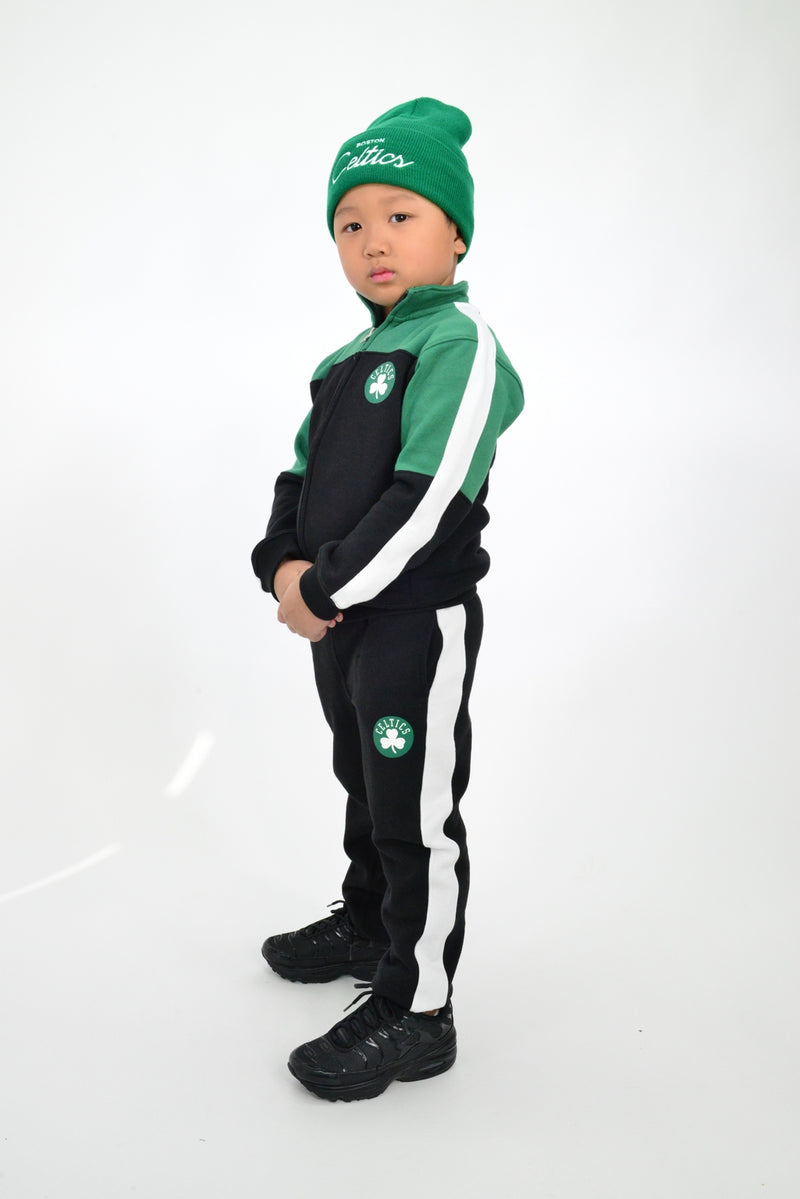 KIDS NBA BOSTON CELTICS REBOUND TRACK JACKET AND PANT SET