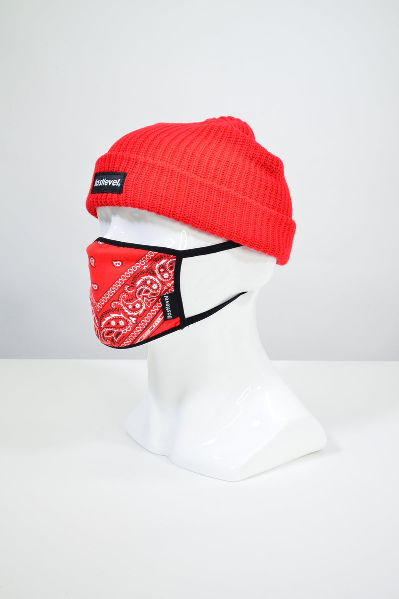BOGO ROLL UP CABLE BEANIE - RED