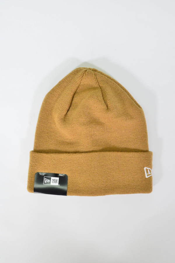 PLAIN NEW ERA KNIT CUFF BEANIE - WHEAT