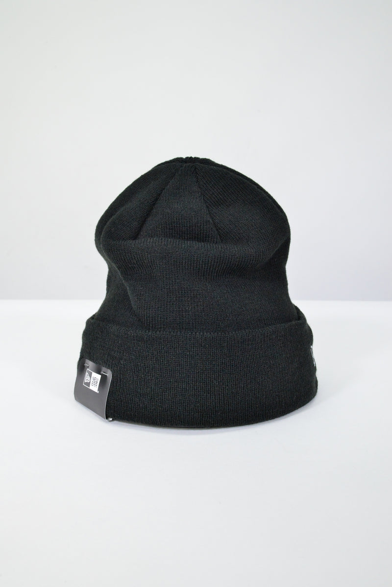 PLAIN NEW ERA KNIT CUFF BEANIE - BLACK