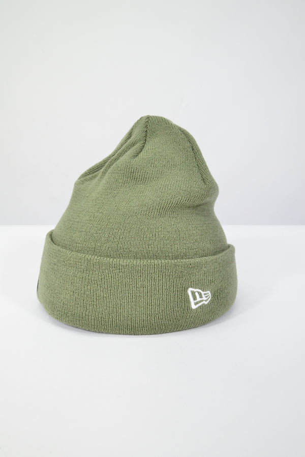PLAIN NEW ERA KNIT CUFF BEANIE - OLIVE