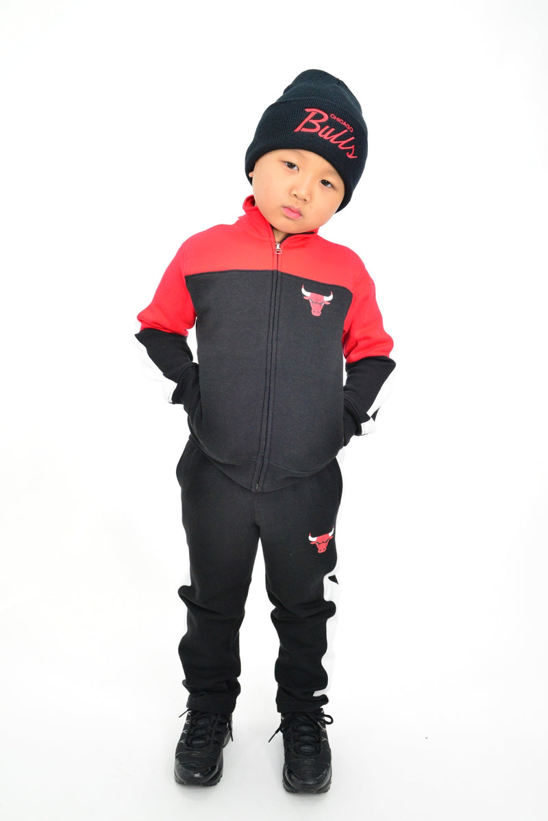 KIDS NBA CHICAGO BULLS REBOUND TRACK JACKET AND PANT SET