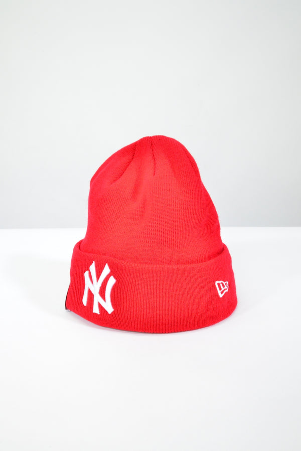 NEW YORK YANKEES KNIT CUFF BEANIE - SCARLET RED