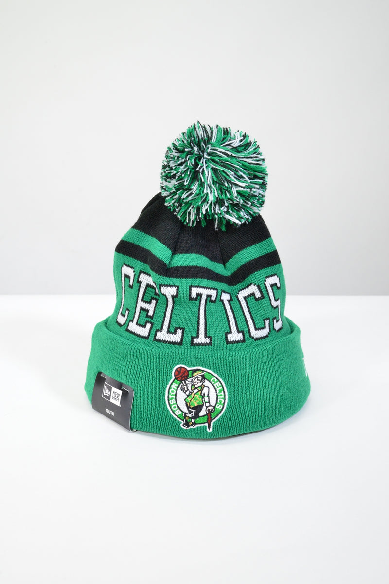 YOUTH BOSTON CELTICS KNIT POM POM BEANIE