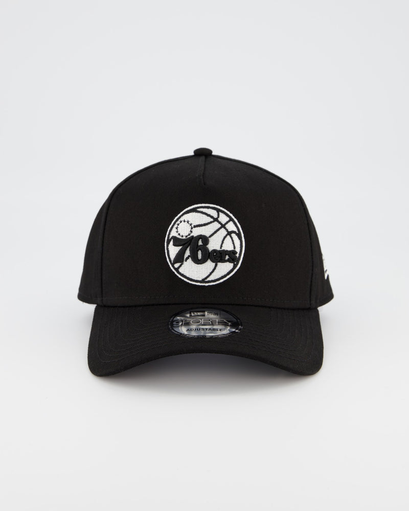 76ERS 9FORTY A-FRAME - BLACK/WHITE