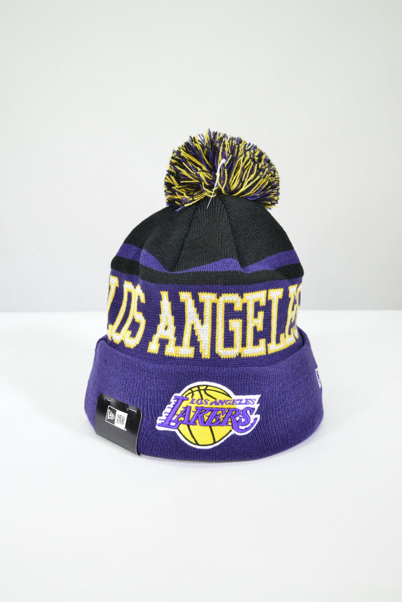 LA LAKERS KNIT POM POM BEANIE