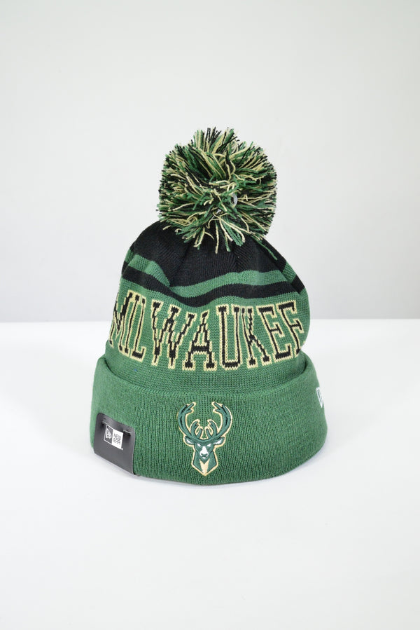 MILWAUKEE BUCKS KNIT POM POM BEANIE